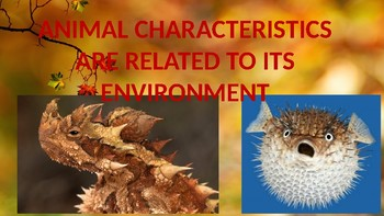 Animal Characteristics Related To The Environment