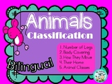 Animals Classification Clasificacion de Animales legs covering move home classes