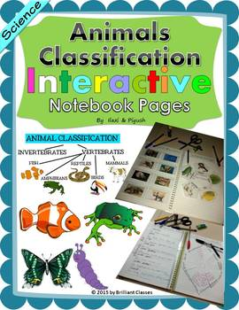 Animals Classification Interactive Notebook Pages