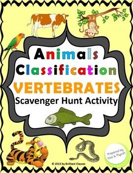 Animals Classification Scavenger Hunt