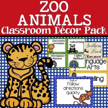 Animals Themed Classroom Decor Pack