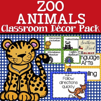 Animals Themed Classroom Decor Pack