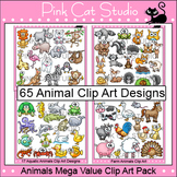 Animals Clip Art Mega Bundle - Farm Animals, Wild Animals, Forest & Aquatic
