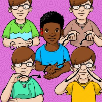 Animals Clip Art Set 4 - ASL American Sign Language Set (Commercial)