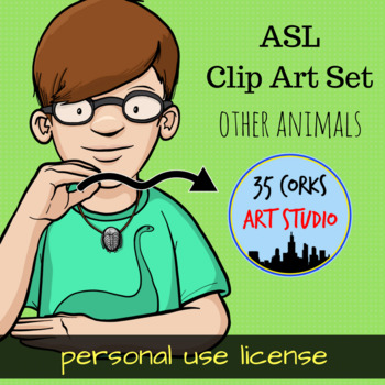 Animals Clip Art Set 4- ASL American Sign Language Set (Personal)