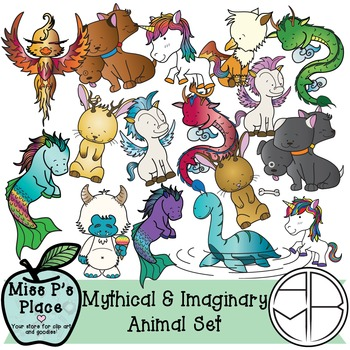 Animals Clip Art Set: Mythical & Imaginary [Miss P's Place]