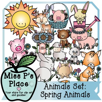 Animals Clip Art Set: Spring Animals [Miss P's Place]