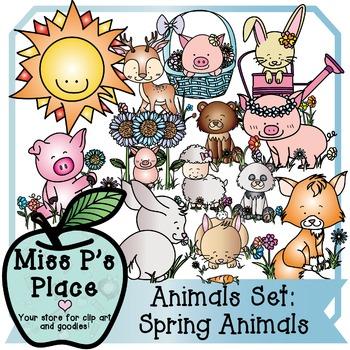 Animals Clip Art Set: Spring Animals [Miss P's Place]