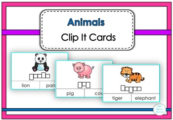 Animals Clip It Cards