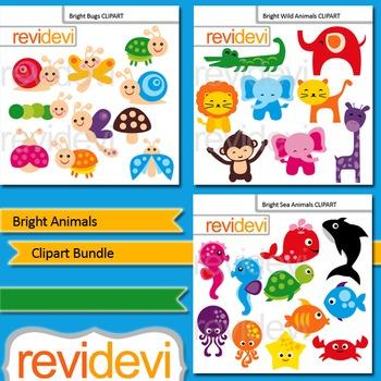 Animals Clip art Bundle (3 packs)