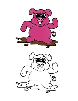 Animals ClipArt Cute Personal & Commercial Use - Colored + Black & White