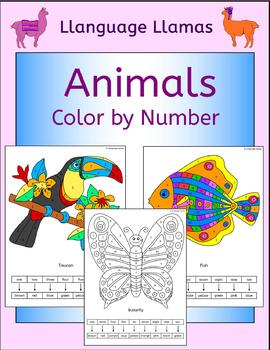 Animals Color by Number
