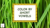 Animals Color by Short Vowel Sound, Short Vowels Reading A