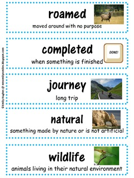 Animals Come Home to Our National Parks Vocabulary & Skills Activities