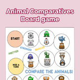Animals Comparative Adjectives Boardgame