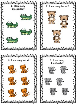 Animals Count the Room English and Spanish