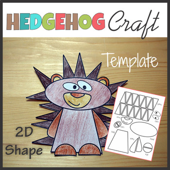 Woodland Animals Craft Hedgehog - Template Cut and Paste