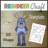 Woodland Animal Craft Reindeer - Template Cut and Paste