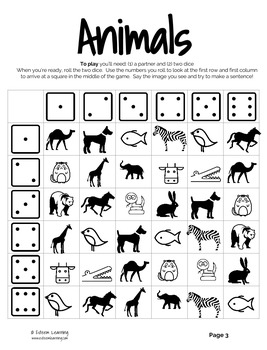 Animals Dice Game (any language!)