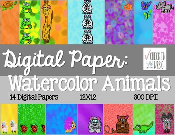 Animals Digital Paper