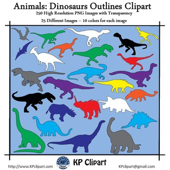 Animals Dinosaur Outlines Clipart
