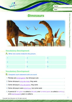 Animals - Dinosaurs (I): Dinosaurs Roamed the Earth - Grade 6