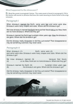 Animals - Dinosaurs (I): What Happened to the Dinosaurs - Grade 5