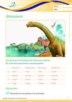 Animals - Dinosaurs (II): Describing Dinosaur - Grade 2