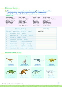 Animals - Dinosaurs (II): Dinosaurs Lived on Planet Earth - Grade 5