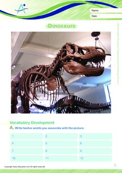 Animals - Dinosaurs (I): Searching For A Dinosaur Fossil - Grade 4