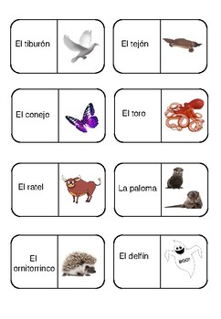 Animals Dominoes- Extended Animals.