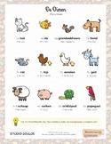 Animals Dutch Language Poster