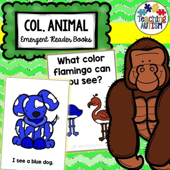 Animals Emergent Reader Book - Colors, Colours