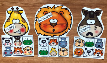 Animals Emotions Sorting Activities