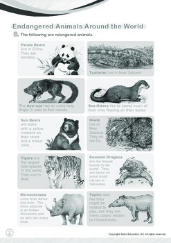Animals - Endangered Animals (I): Animals Around the World - Grade 3