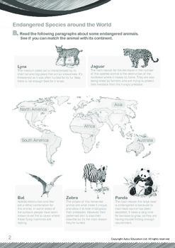 Animals - Endangered Animals (I): Endangered Species Around the World - Grade 6
