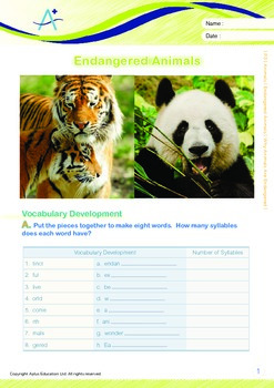 Animals - Endangered Animals (II): Why Animals Are Endangered - Grade 3