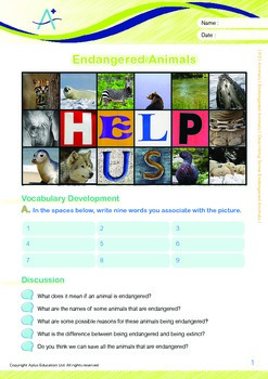 Animals - Endangered Animals (III): Describing Some Endangered Animals - Grade 3