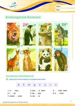 Animals - Endangered Animals (III): Endangered Animals in the World - Grade 2