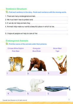Animals - Endangered Animals (III): Endangered Animals in the World - Grade 2