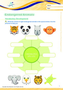 Animals - Endangered Animals (IV): More and More Endangered Animals - Grade 2