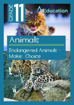 Animals - Endangered Animals - Make  Choice - Grade 11
