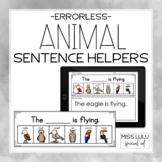 Animals Errorless Writing Sentence Helpers