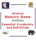 Animals- Essential Science Vocabulary Memory Game