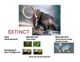 Animals Now and Long Ago: Compare and Contrast Posters