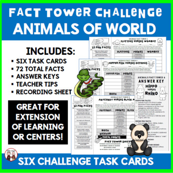 Animals Fact Towers Activity
