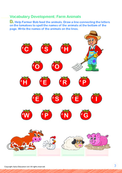 Animals - Farm Animals: Let's Go to the Farm - Grade 1