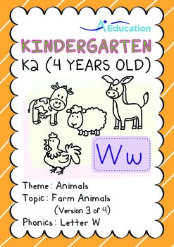 Animals - Farm Animals (III): Letter W - K2 (4 years old)