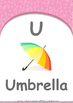 Animals - Feeding Animals : Letter U : Umbrella - Pre-Nurs