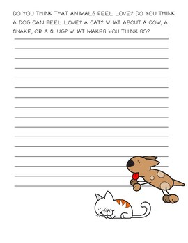 Animals Feel Love Opinion Writing ~Creative Writing